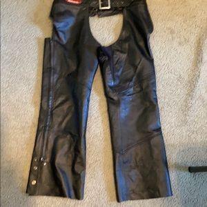 Women's Harley Davidson Biker Chaps. Size L